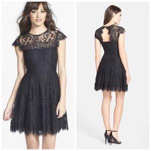 BB Dakota Rhianna Lace Fit & Flare Cocktail Dress